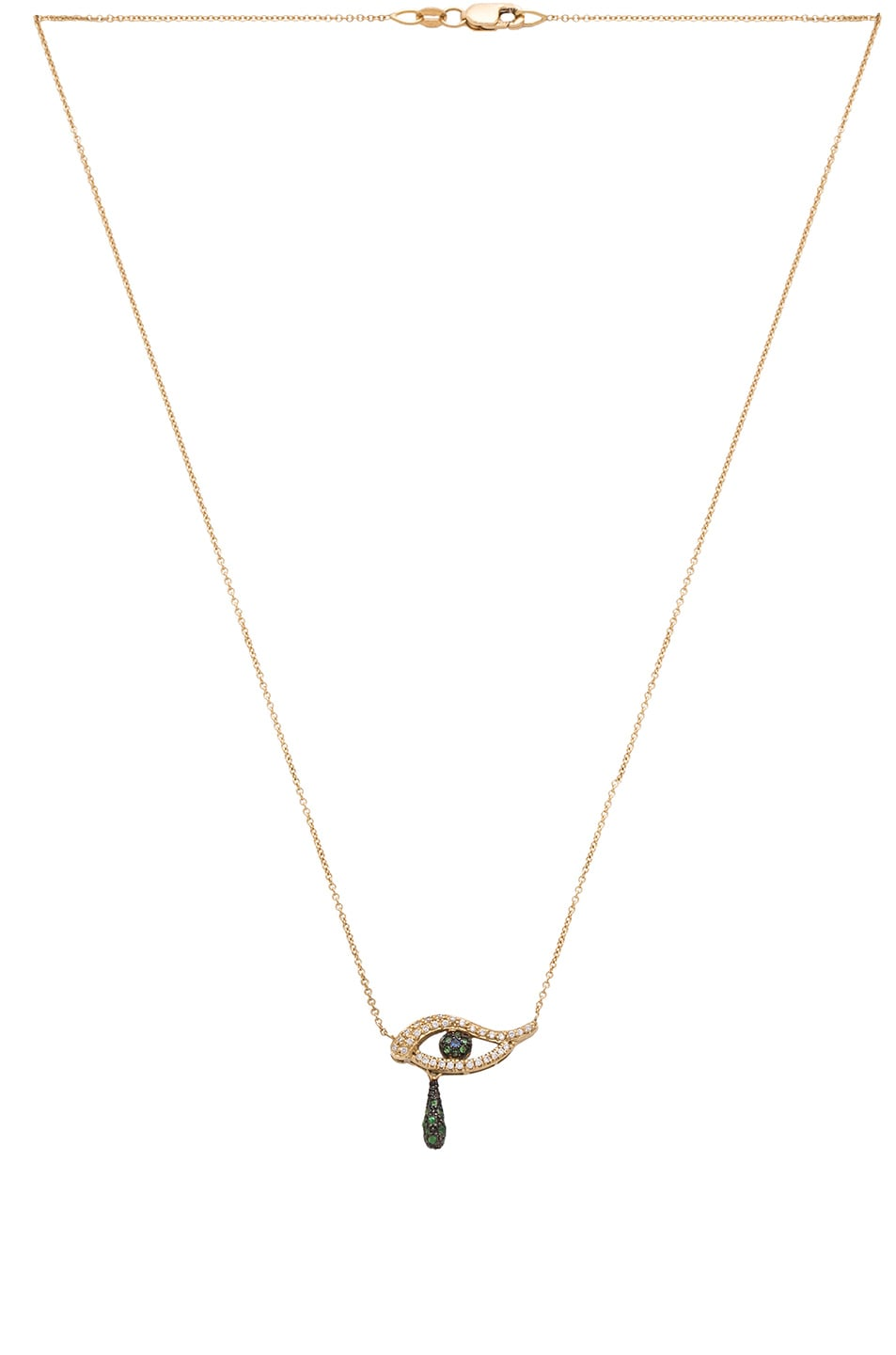 Image 3 of Ileana Makri Angry Tears Necklace in Yellow Gold