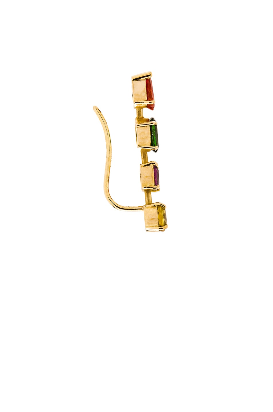 Image 3 of Ileana Makri Multi Shaped Single Branch in Yellow Gold
