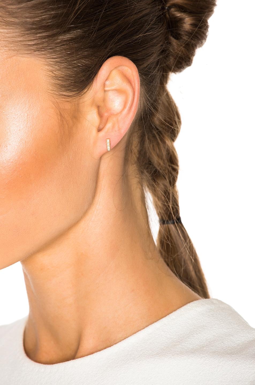Image 4 of Ileana Makri Pixel Stud Earring in Yellow Gold