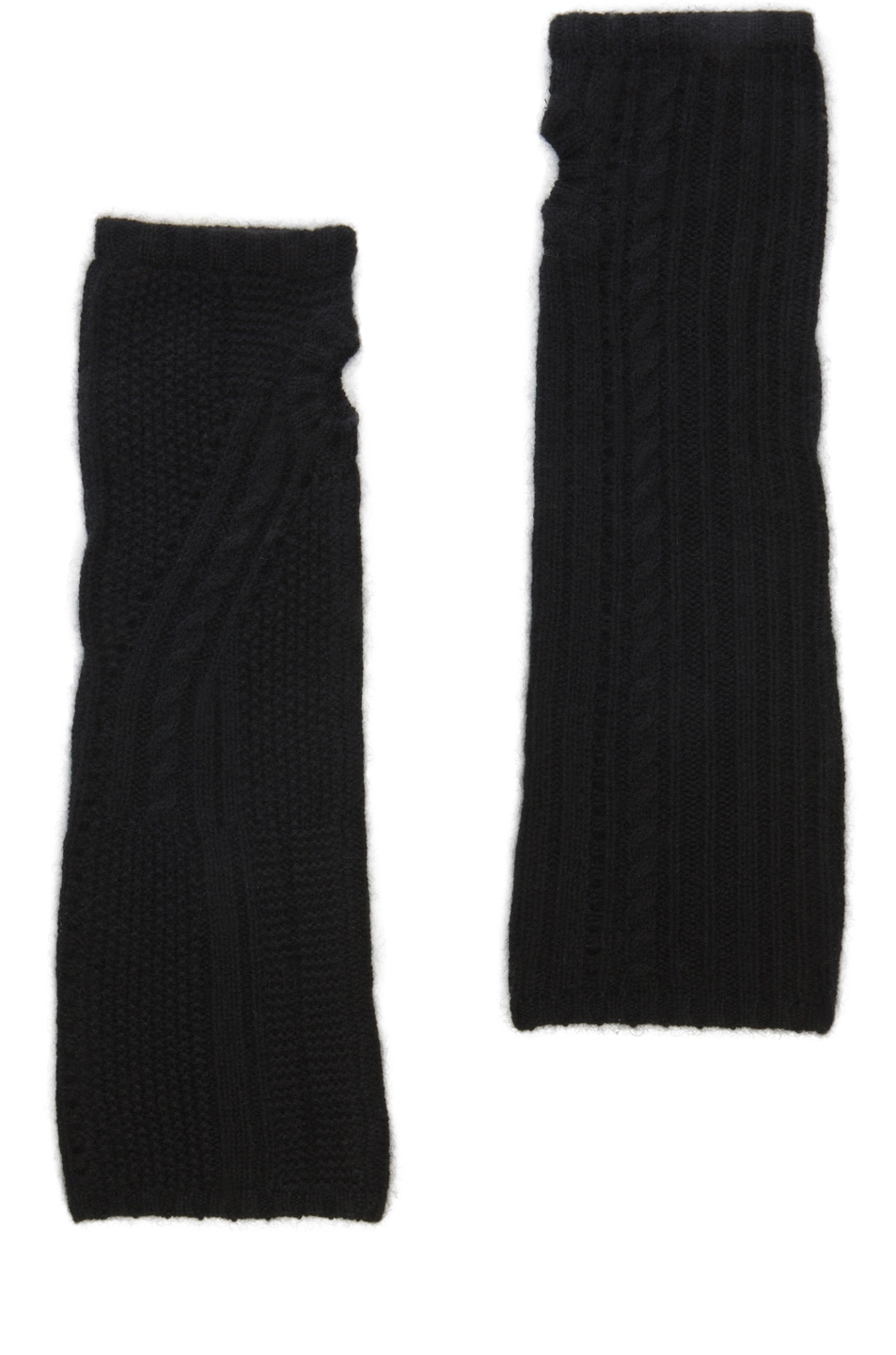 Image 2 of Inhabit Cable Arm Warmers in Black