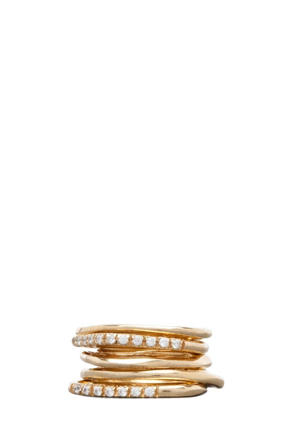 Image 1 of Iosselliani Multi Set of Rings in Gold