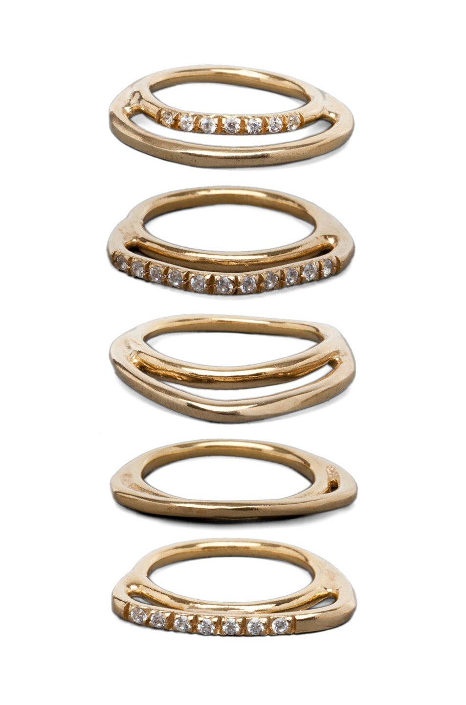Image 2 of Iosselliani Multi Set of Rings in Gold