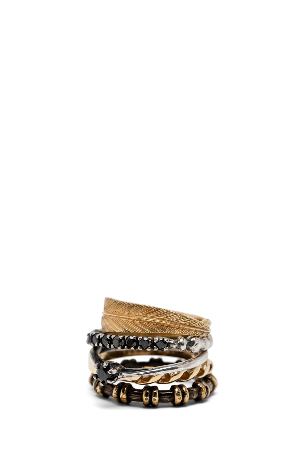 Image 1 of Iosselliani Mixed Set of Rings in Gold