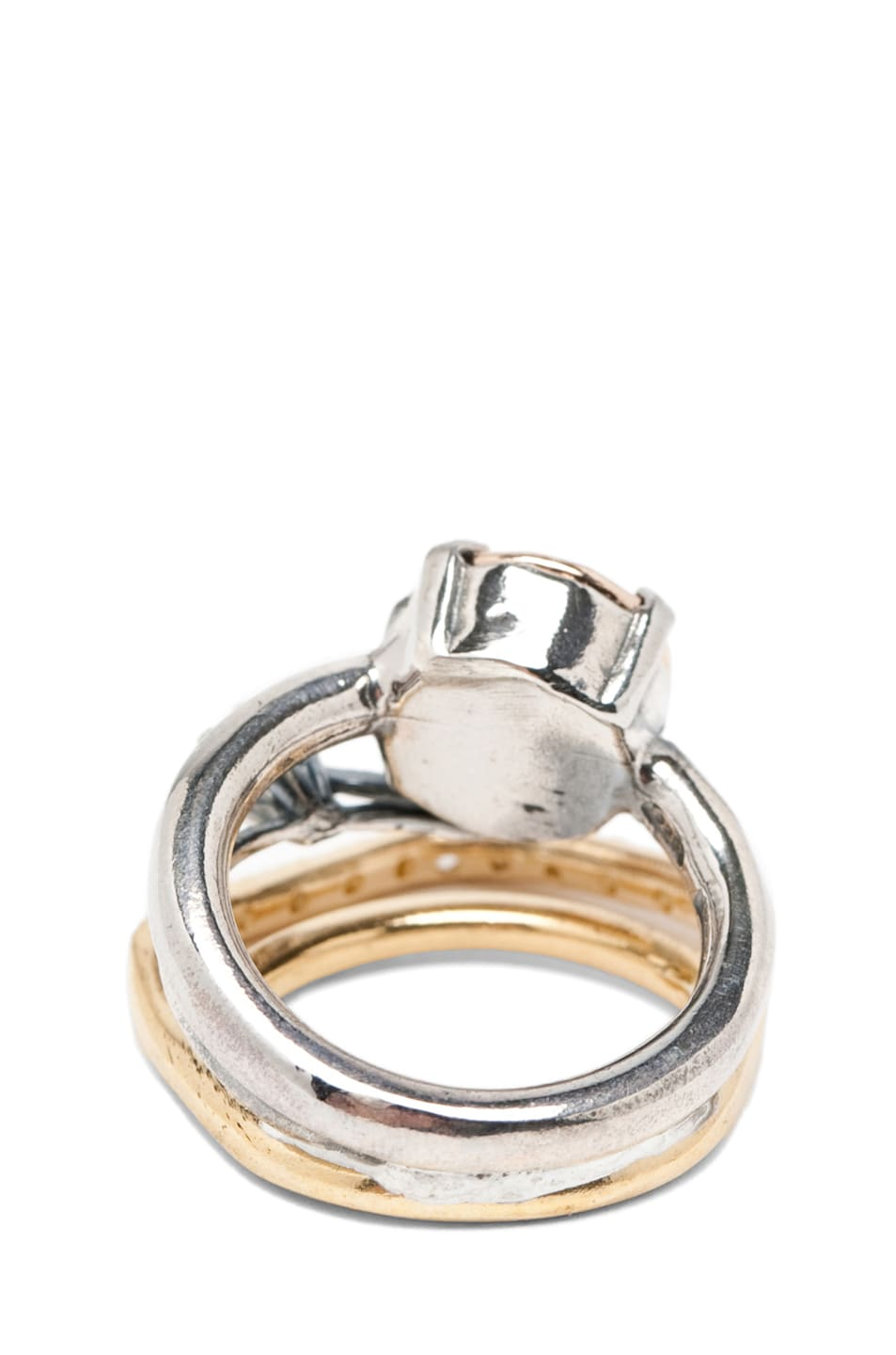 Image 3 of Iosselliani Mixed Set of Rings in Silver & Gold