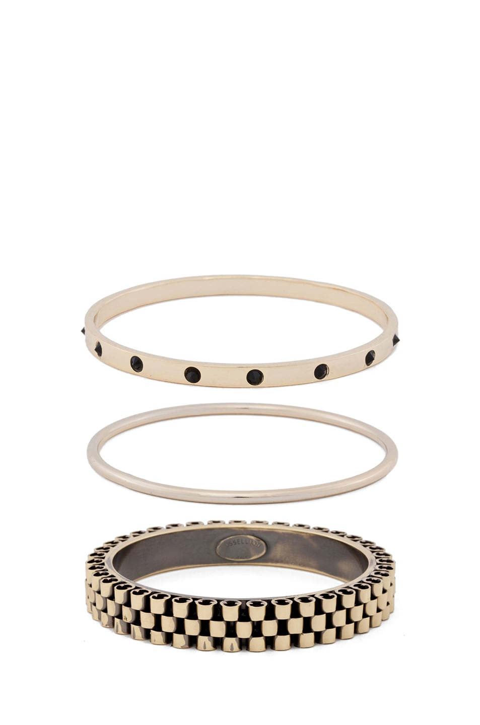 Image 2 of Iosselliani Bangle Set in Black