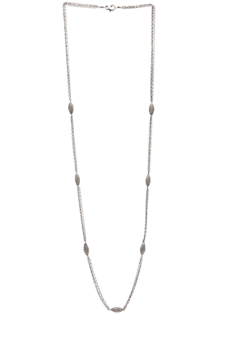 Image 2 of Irit Design Long Triple Chain Diamond Necklace in Silver