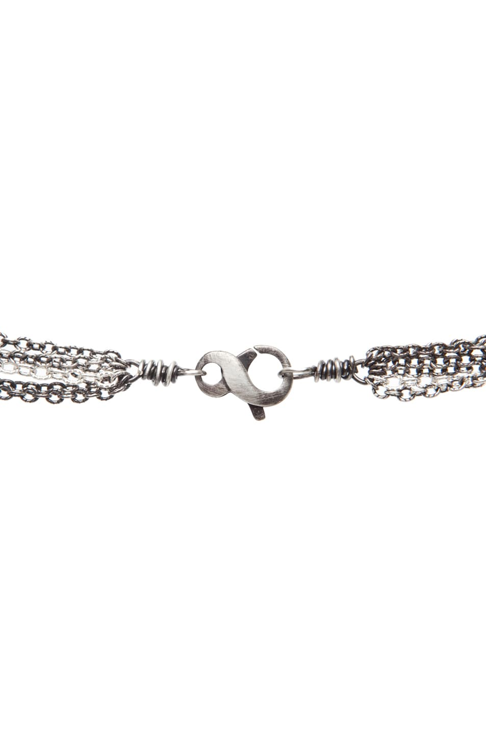 Image 3 of Irit Design Feather Diamond Necklace in Silver