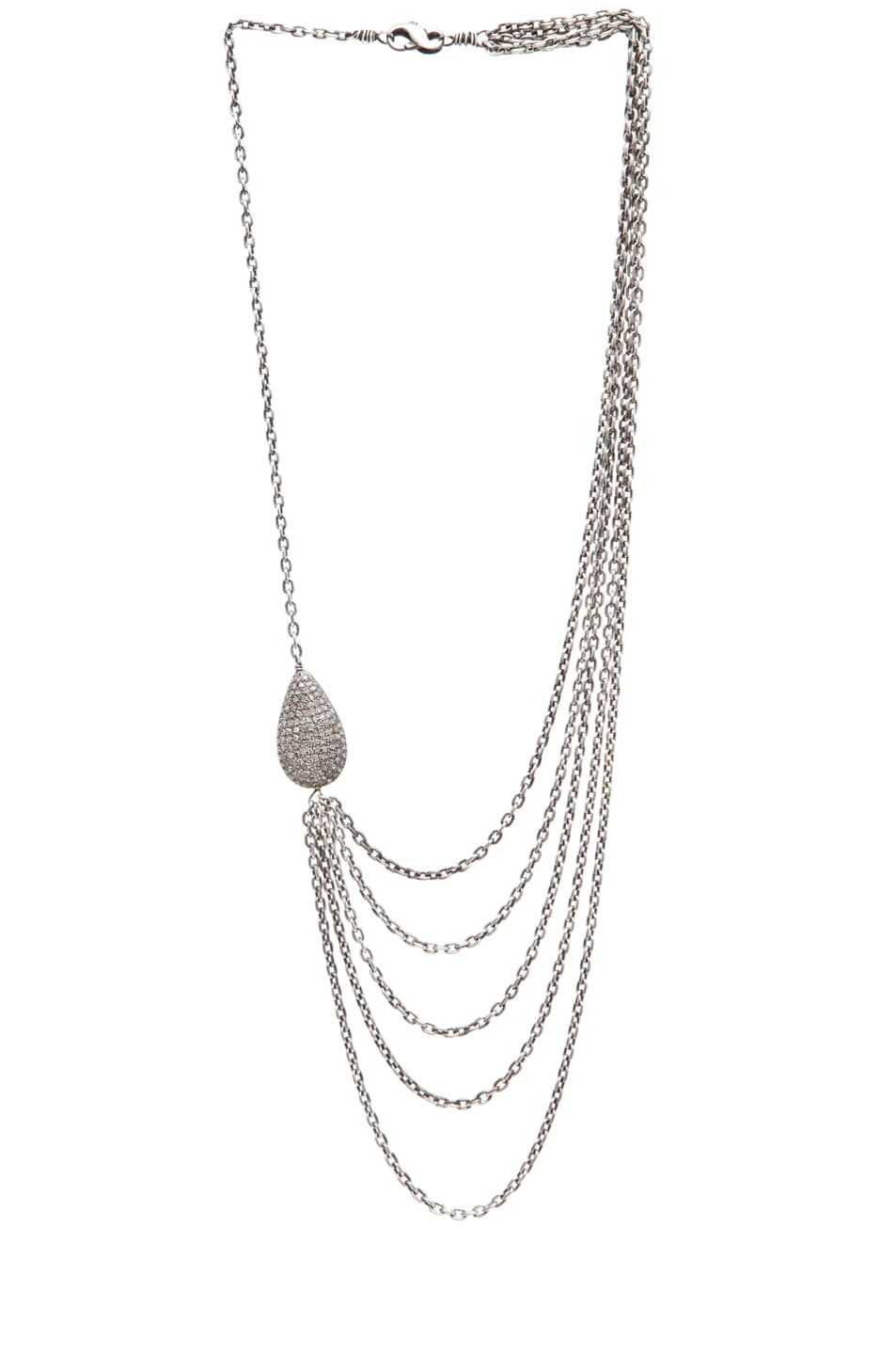 Image 2 of Irit Design Asymmetric Multi Chain Diamond Necklace in Silver