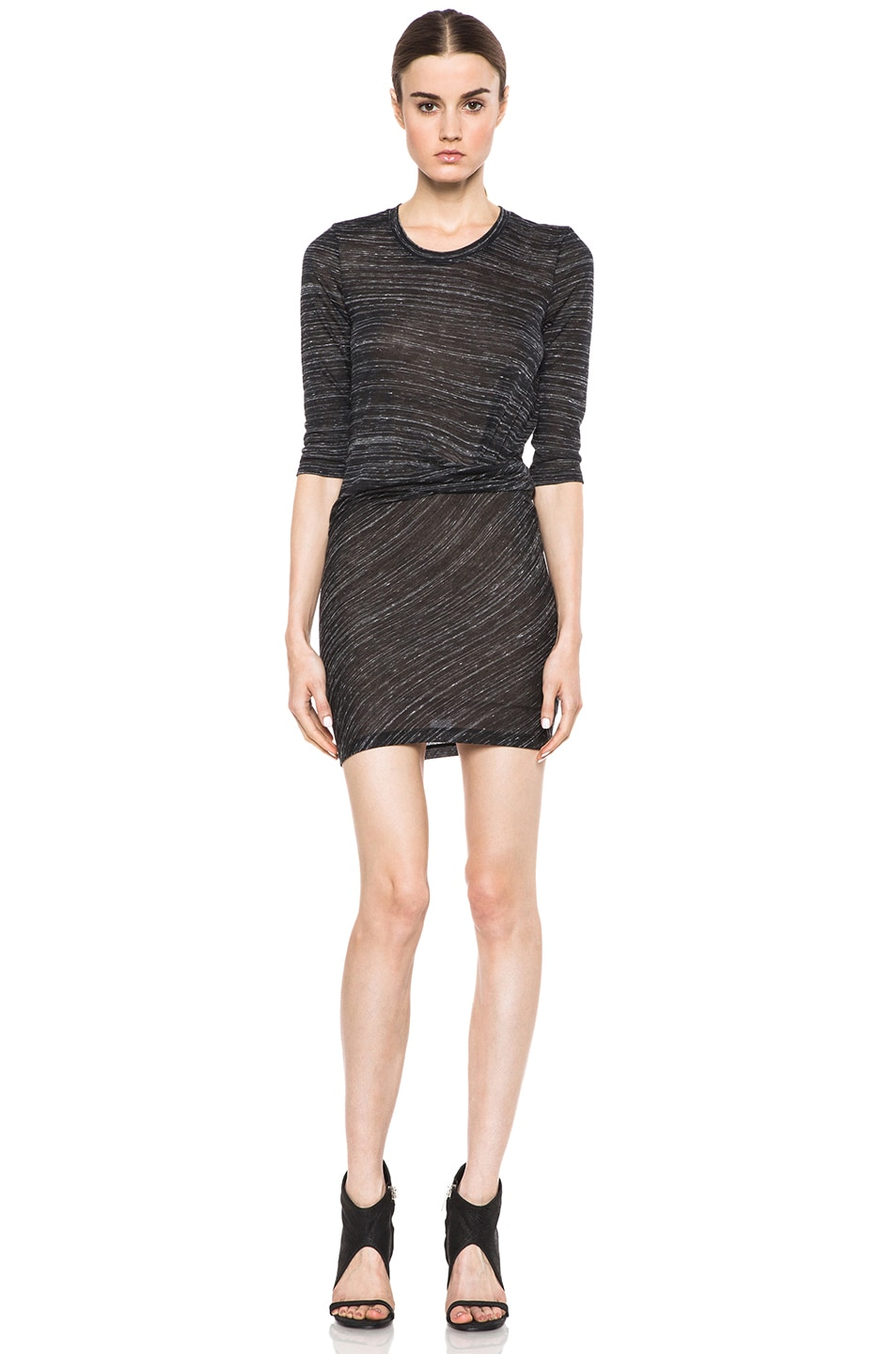 Image 1 of IRO Lolita Polyetylene-Blend Tee Shirt Dress in Noir