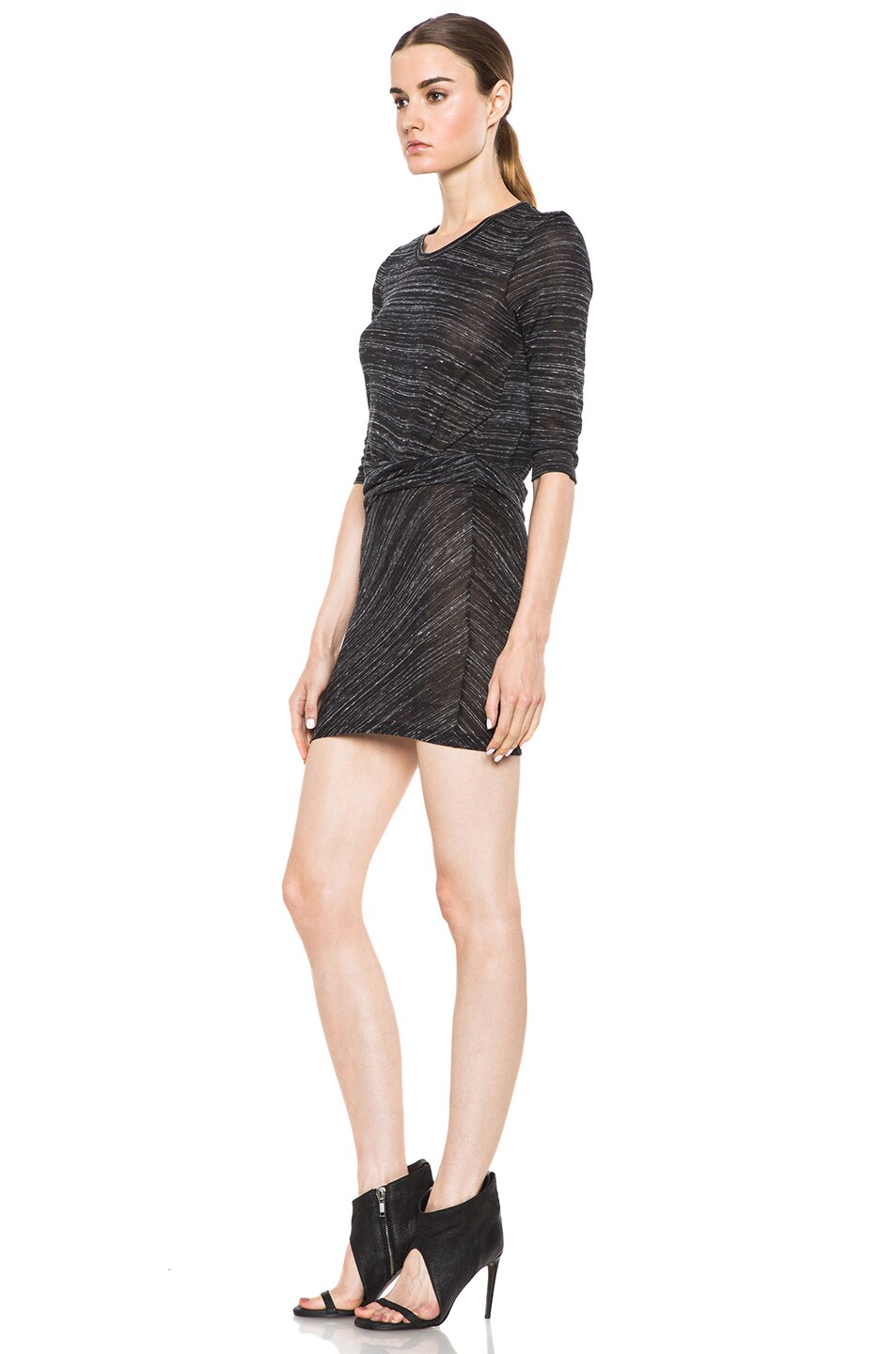 Image 2 of IRO Lolita Polyetylene-Blend Tee Shirt Dress in Noir