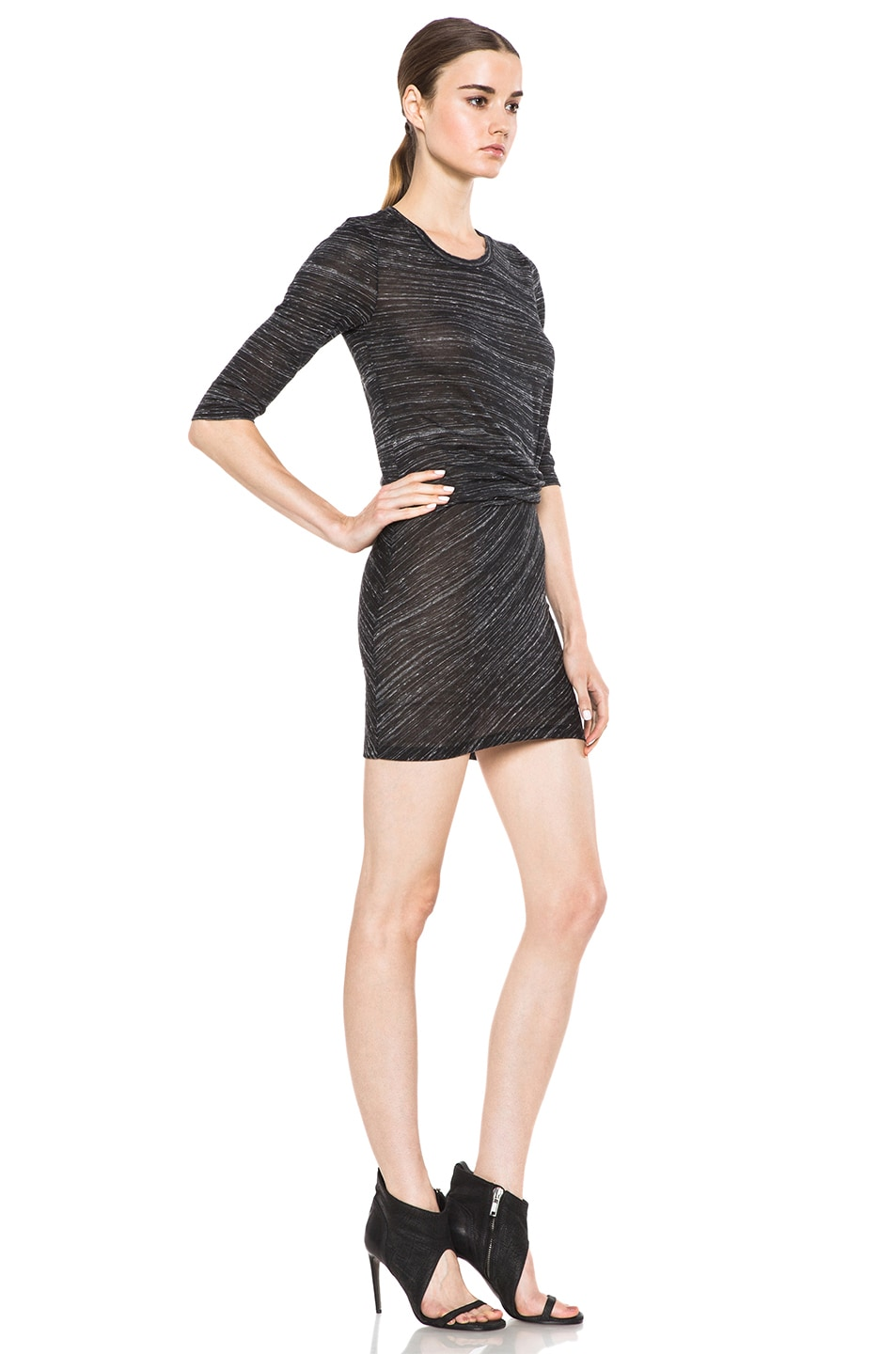 Image 3 of IRO Lolita Polyetylene-Blend Tee Shirt Dress in Noir
