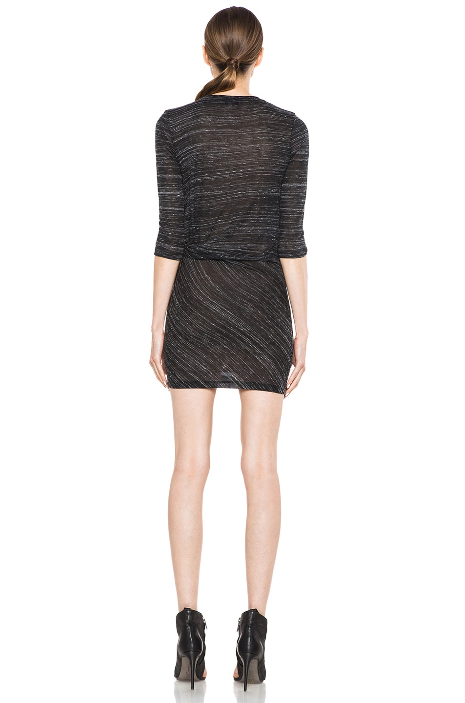 Image 4 of IRO Lolita Polyetylene-Blend Tee Shirt Dress in Noir