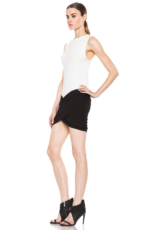 Image 2 of IRO Eruno Acetate-Blend Dress in Blanc & Noir