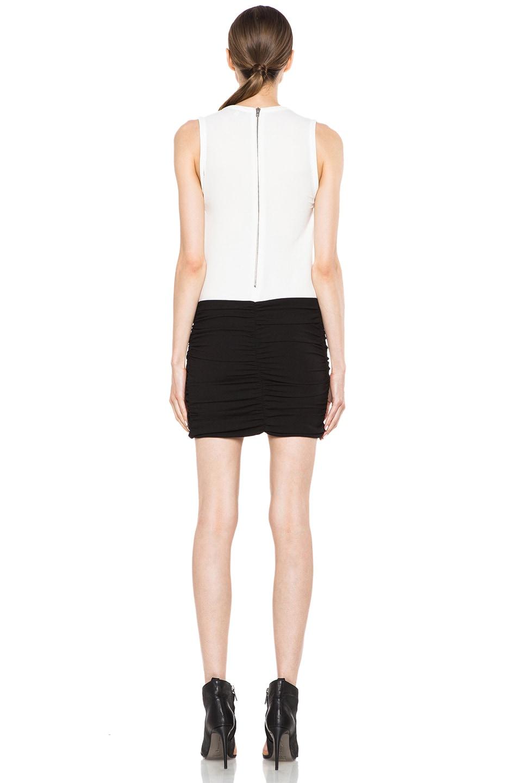 Image 4 of IRO Eruno Acetate-Blend Dress in Blanc & Noir