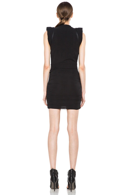 Image 4 of IRO Jadela Silk-Blend Dress in Noir