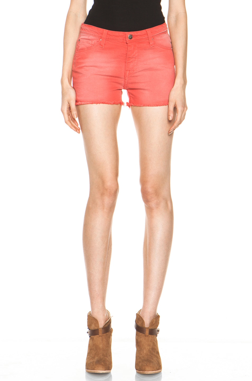 Image 1 of IRO Alexis Cutoff Shorts in Rouge