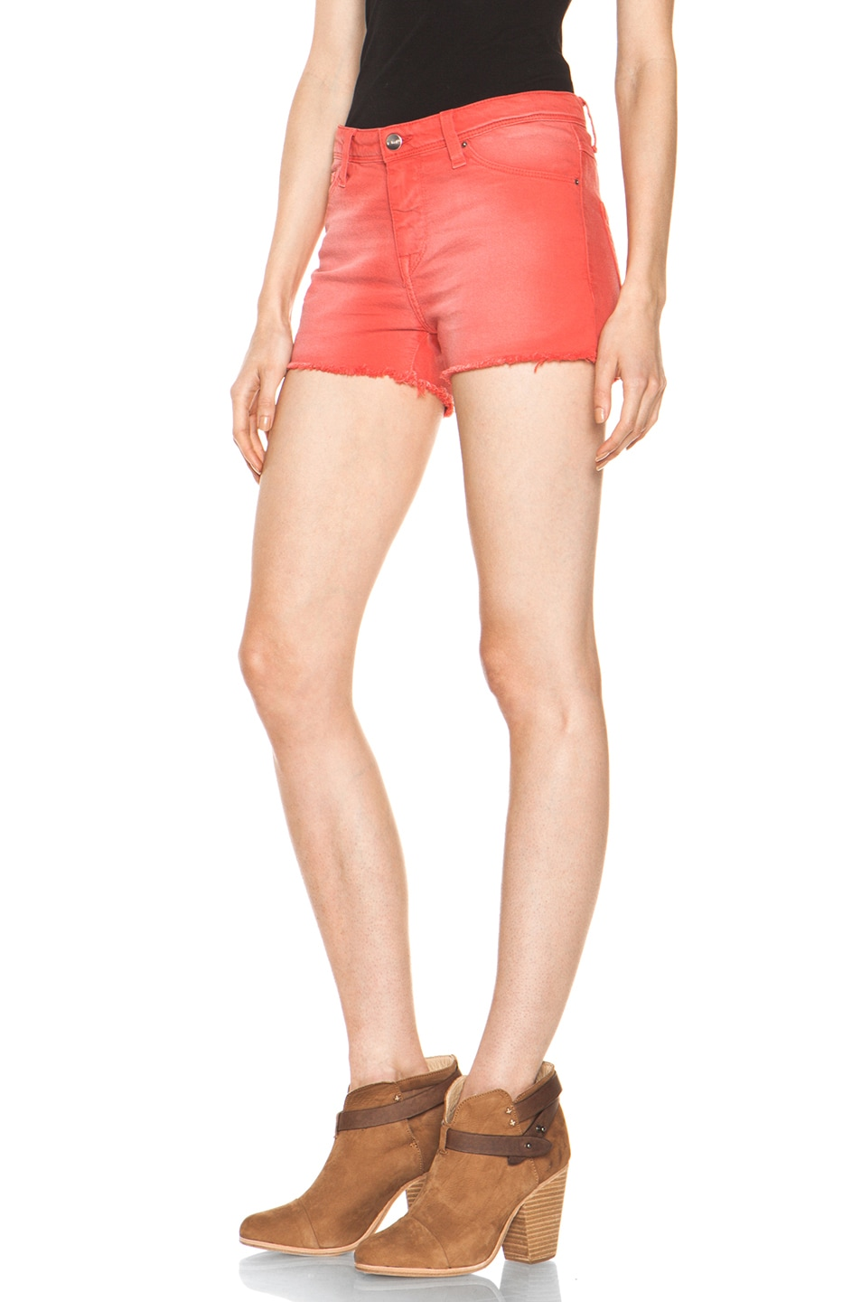 Image 2 of IRO Alexis Cutoff Shorts in Rouge