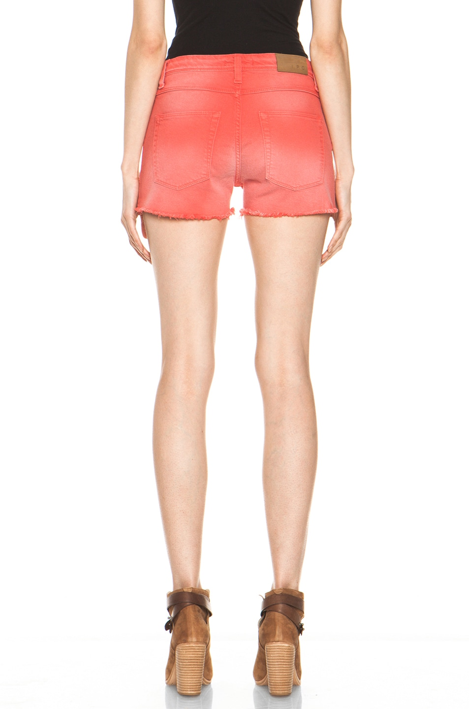 Image 4 of IRO Alexis Cutoff Shorts in Rouge