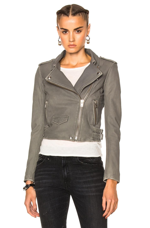 IRO Ashville Washed-Leather Biker Jacket