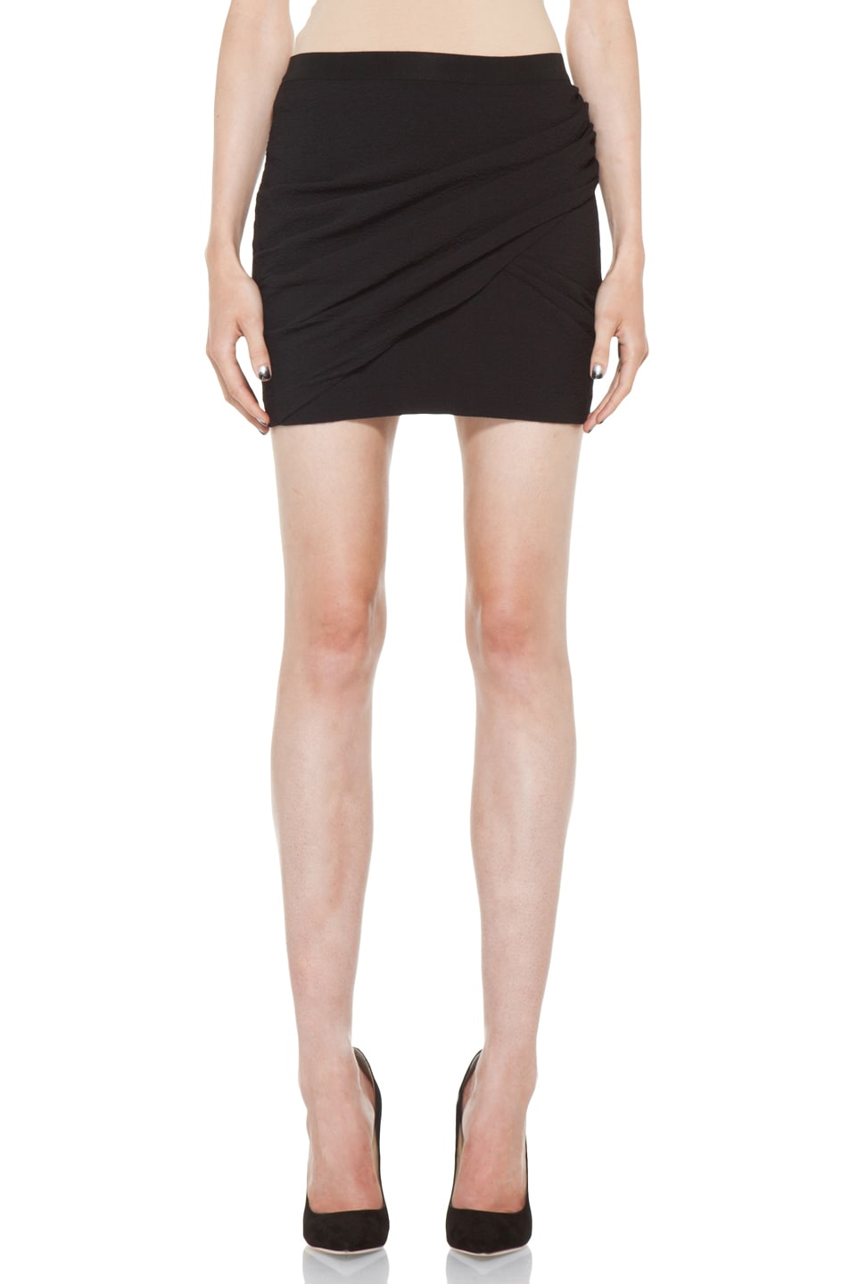 Image 1 of IRO Muse Skirt in Black