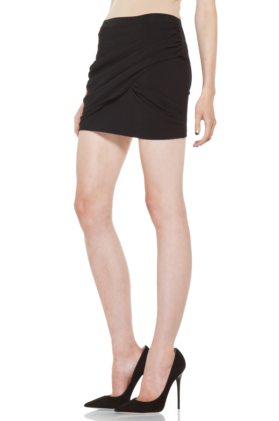 Image 2 of IRO Muse Skirt in Black