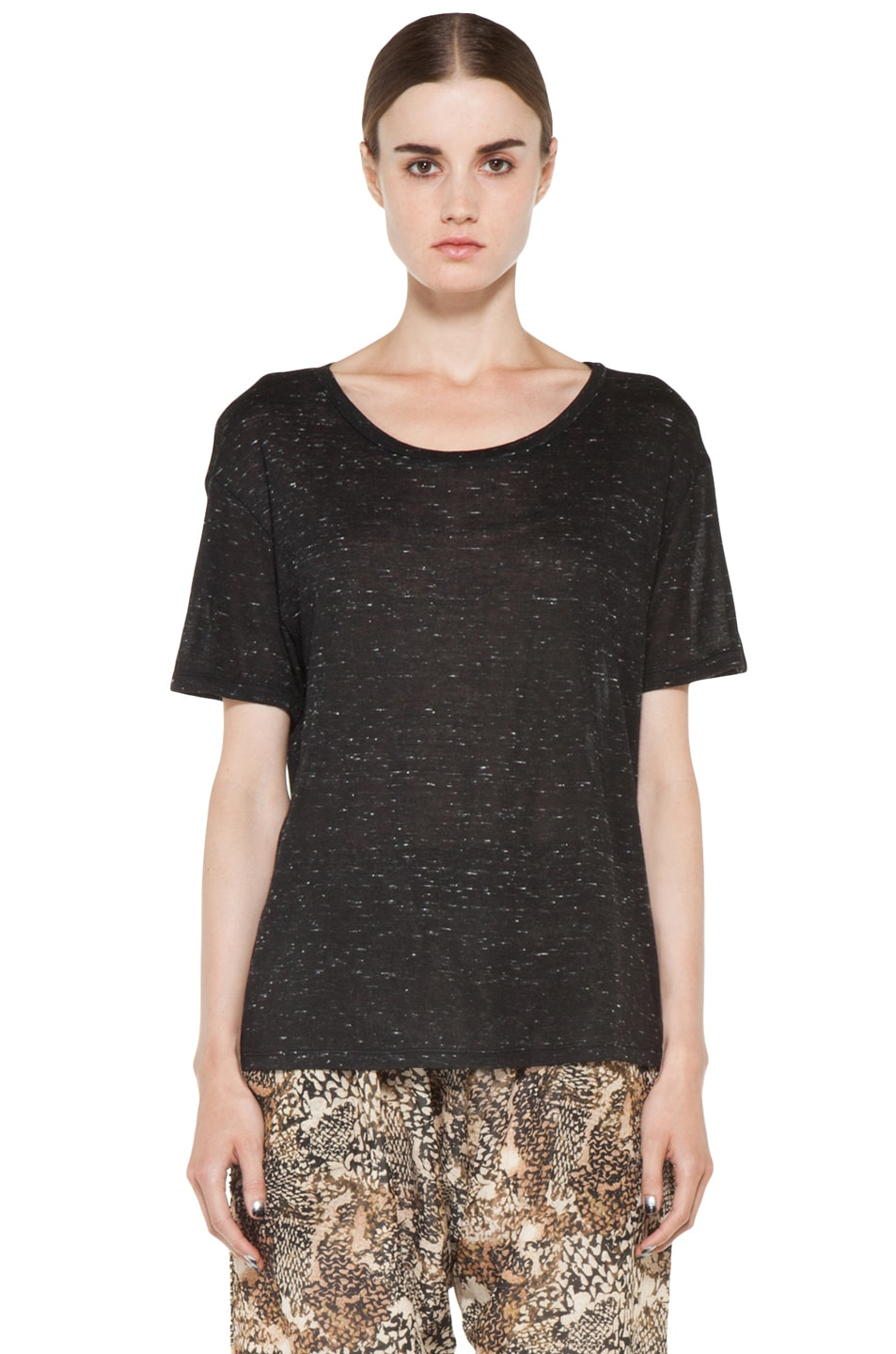 Image 1 of IRO Winnie Tee Shirt in Black