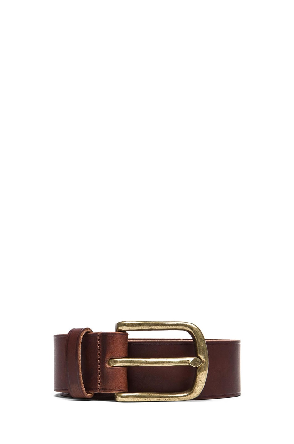 Image 1 of Isabel Marant Clayne Leather Belt in Camel & Brass