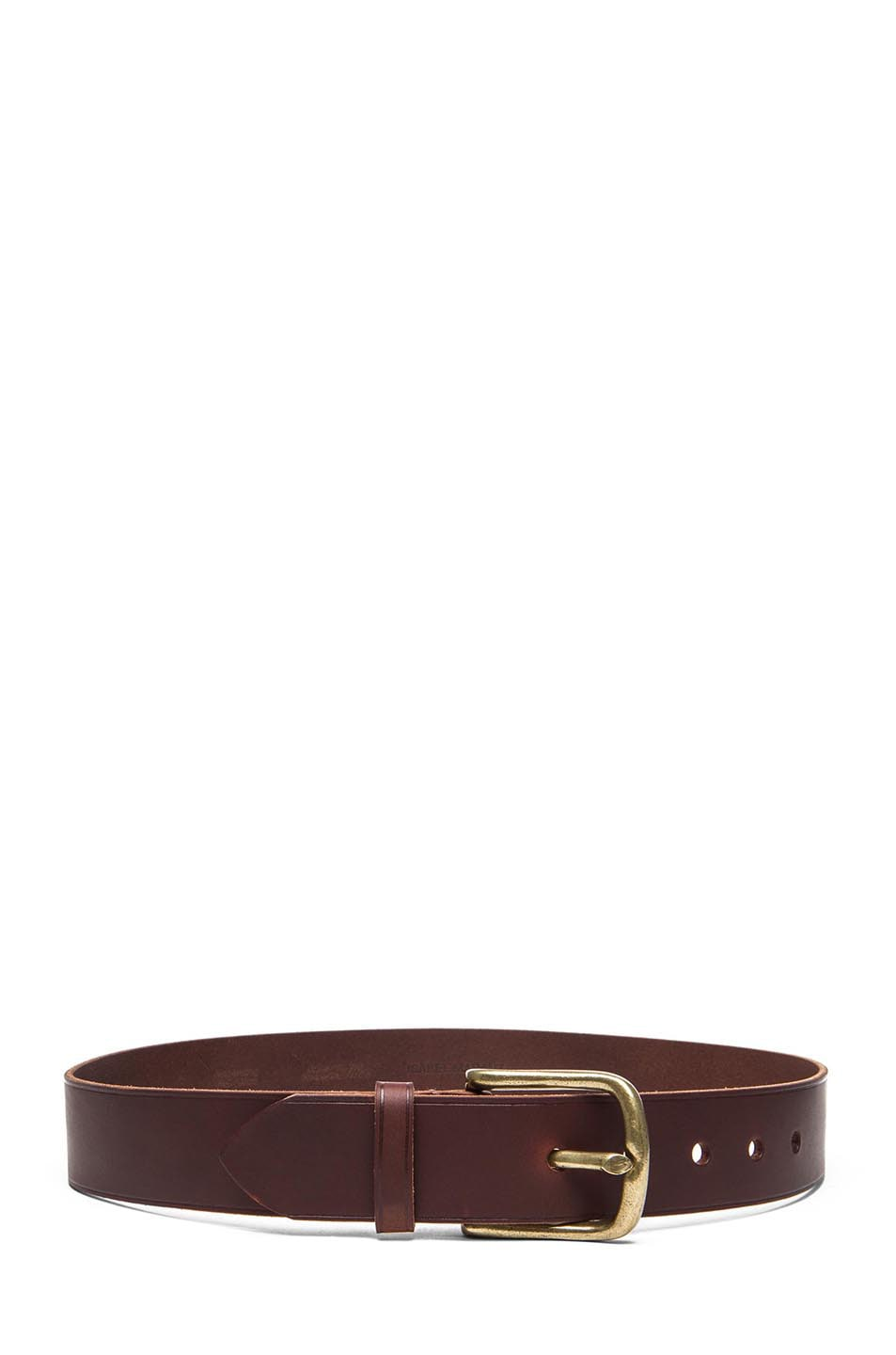 Image 2 of Isabel Marant Clayne Leather Belt in Camel & Brass