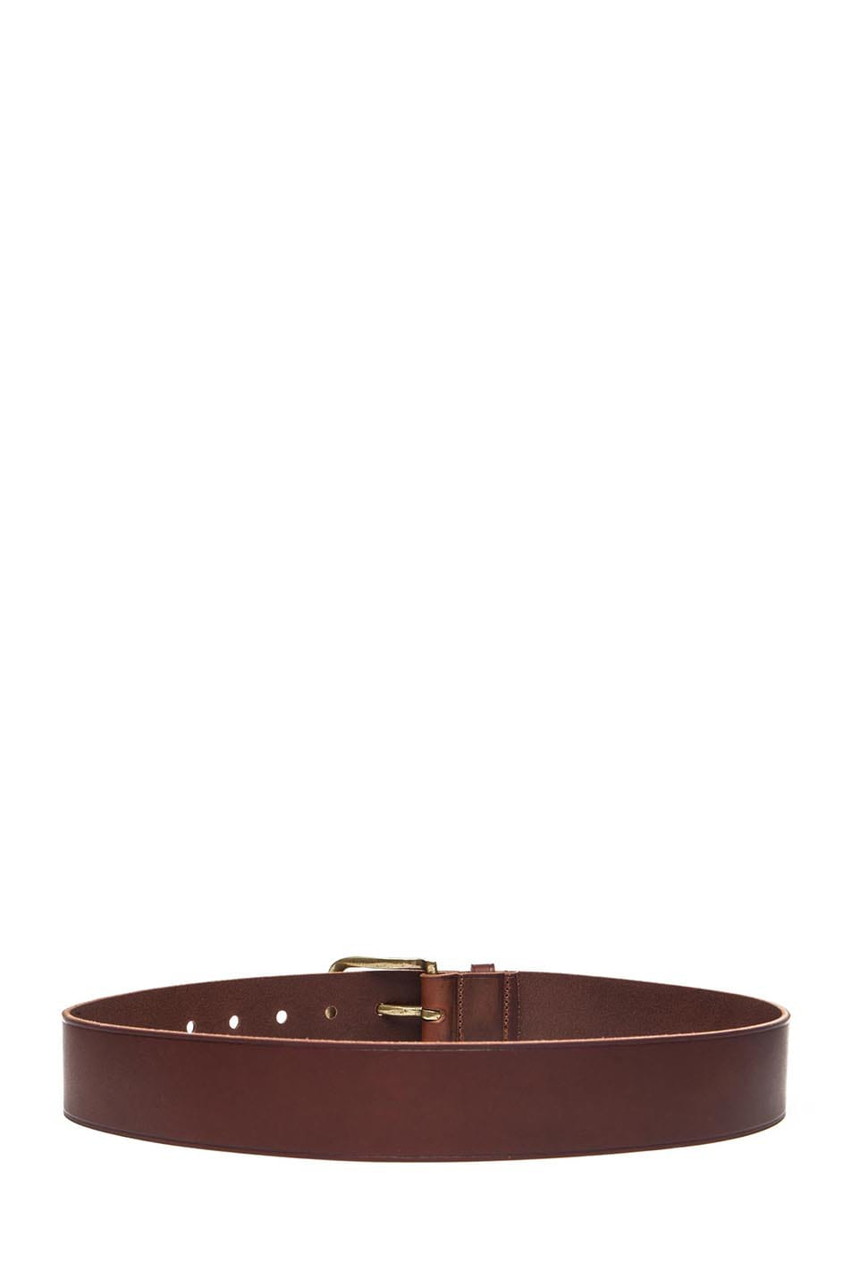Image 3 of Isabel Marant Clayne Leather Belt in Camel & Brass