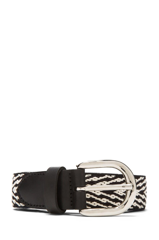Image 1 of Isabel Marant Uston Calfskin Leather Belt in Black
