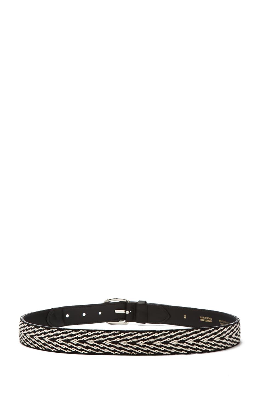 Image 3 of Isabel Marant Uston Calfskin Leather Belt in Black