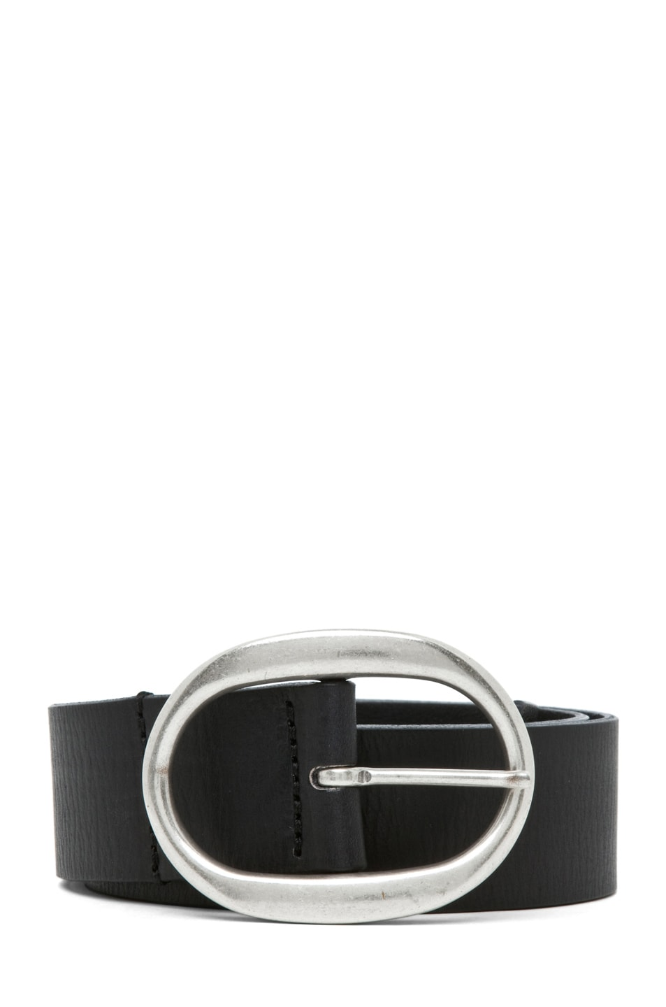 Image 1 of Isabel Marant Celia Leather Belt in Noir Argent