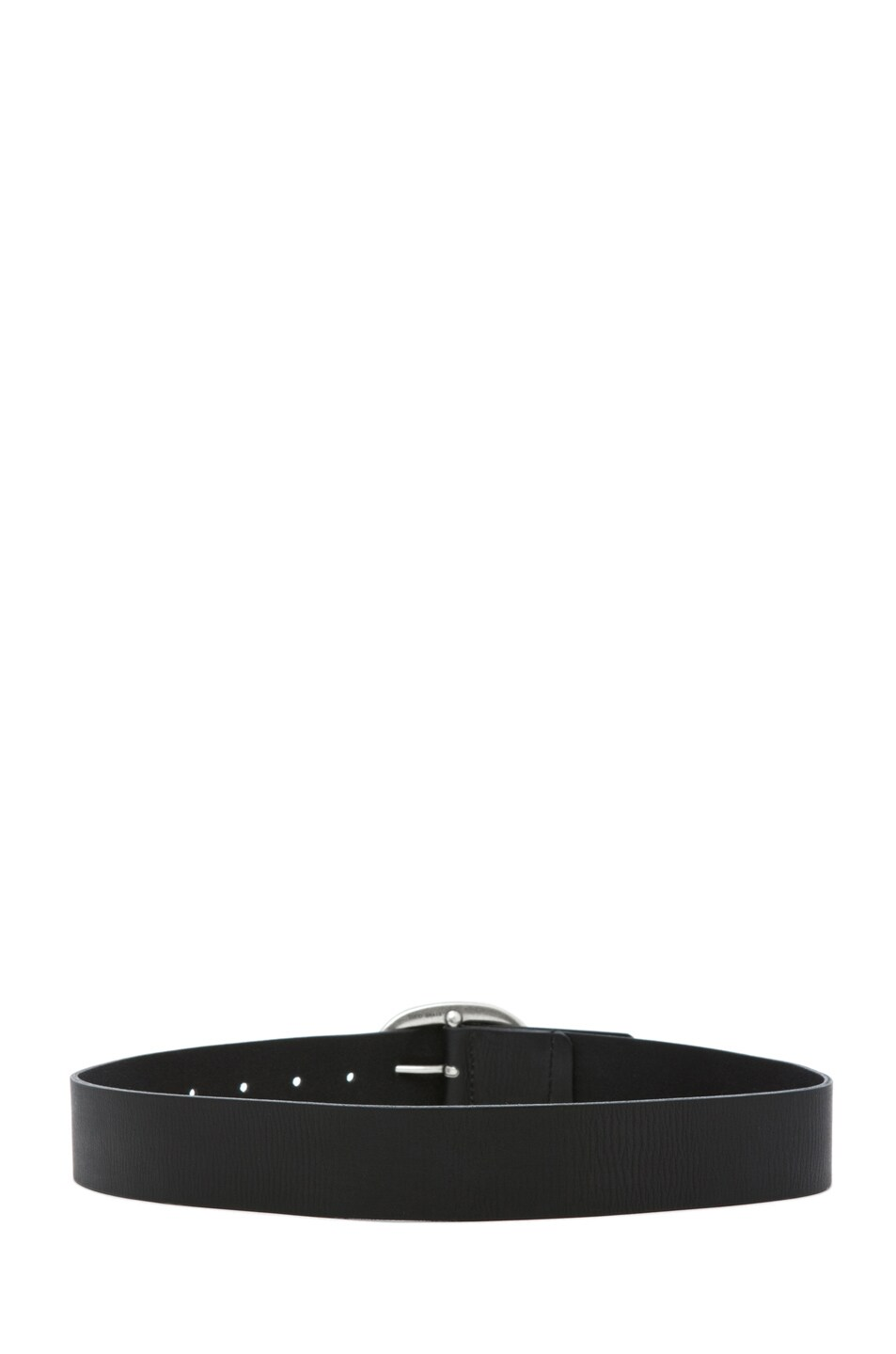 Image 3 of Isabel Marant Celia Leather Belt in Noir Argent