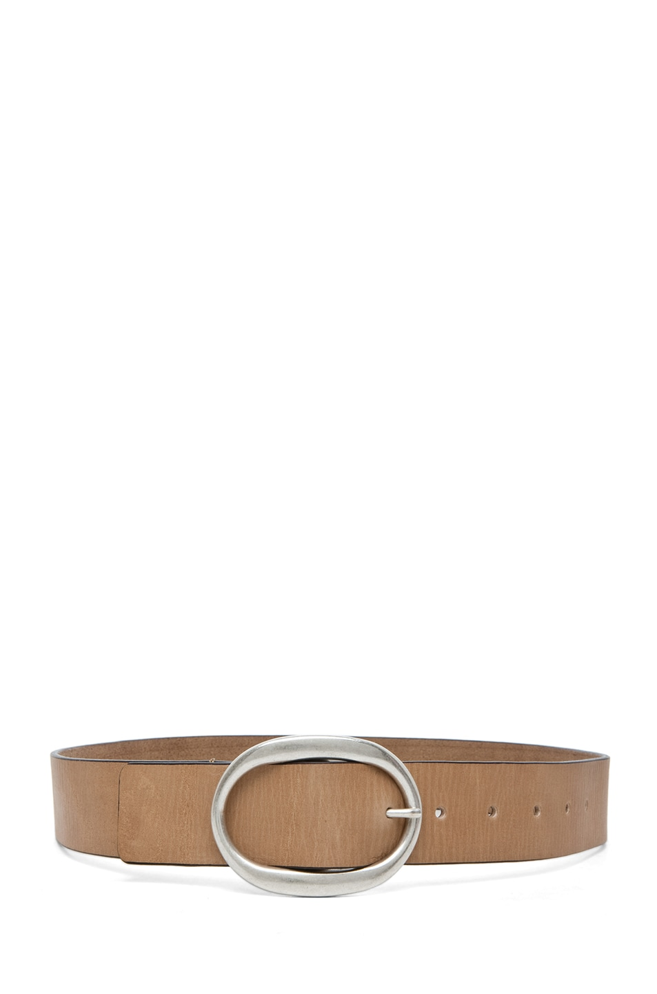 Image 2 of Isabel Marant Celia Leather Belt in Camel Argent
