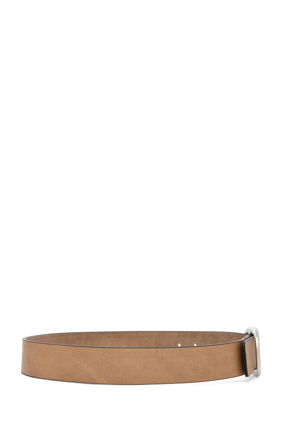 Image 3 of Isabel Marant Celia Leather Belt in Camel Argent