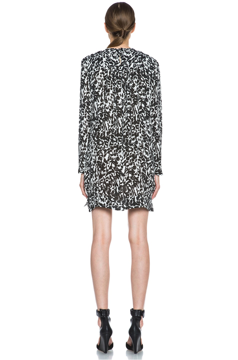 Image 4 of Isabel Marant Maybe Charmeuse Leopard Dress in Black