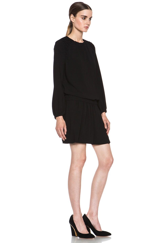 Image 3 of Isabel Marant Elwood Crepe Chic Dress in Black