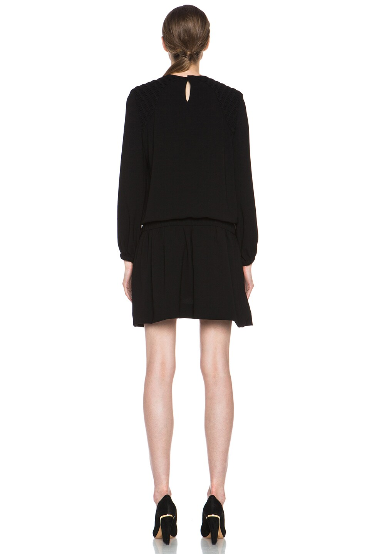 Image 4 of Isabel Marant Elwood Crepe Chic Dress in Black