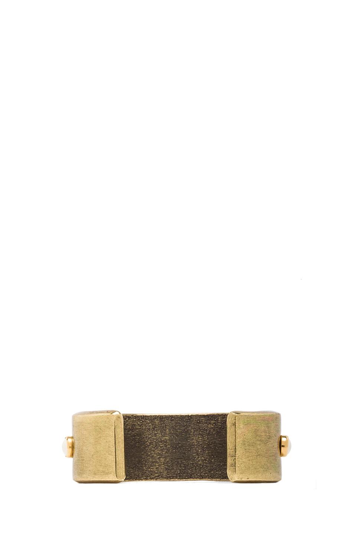 Image 3 of Isabel Marant Romy Cuff in Gold & Ecru