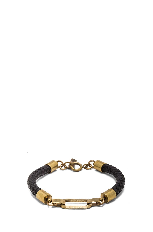 Image 1 of Isabel Marant Happy Wednesday Brass Bracelet in Bronze & Black