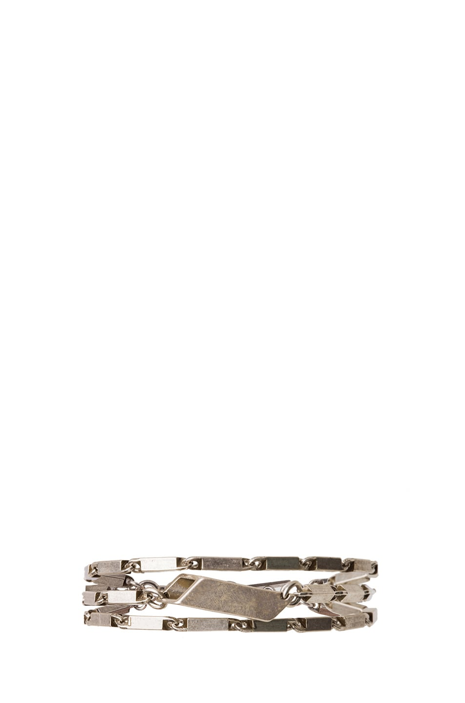 Image 1 of Isabel Marant Mondrian Antique Brass Bracelet in Silver