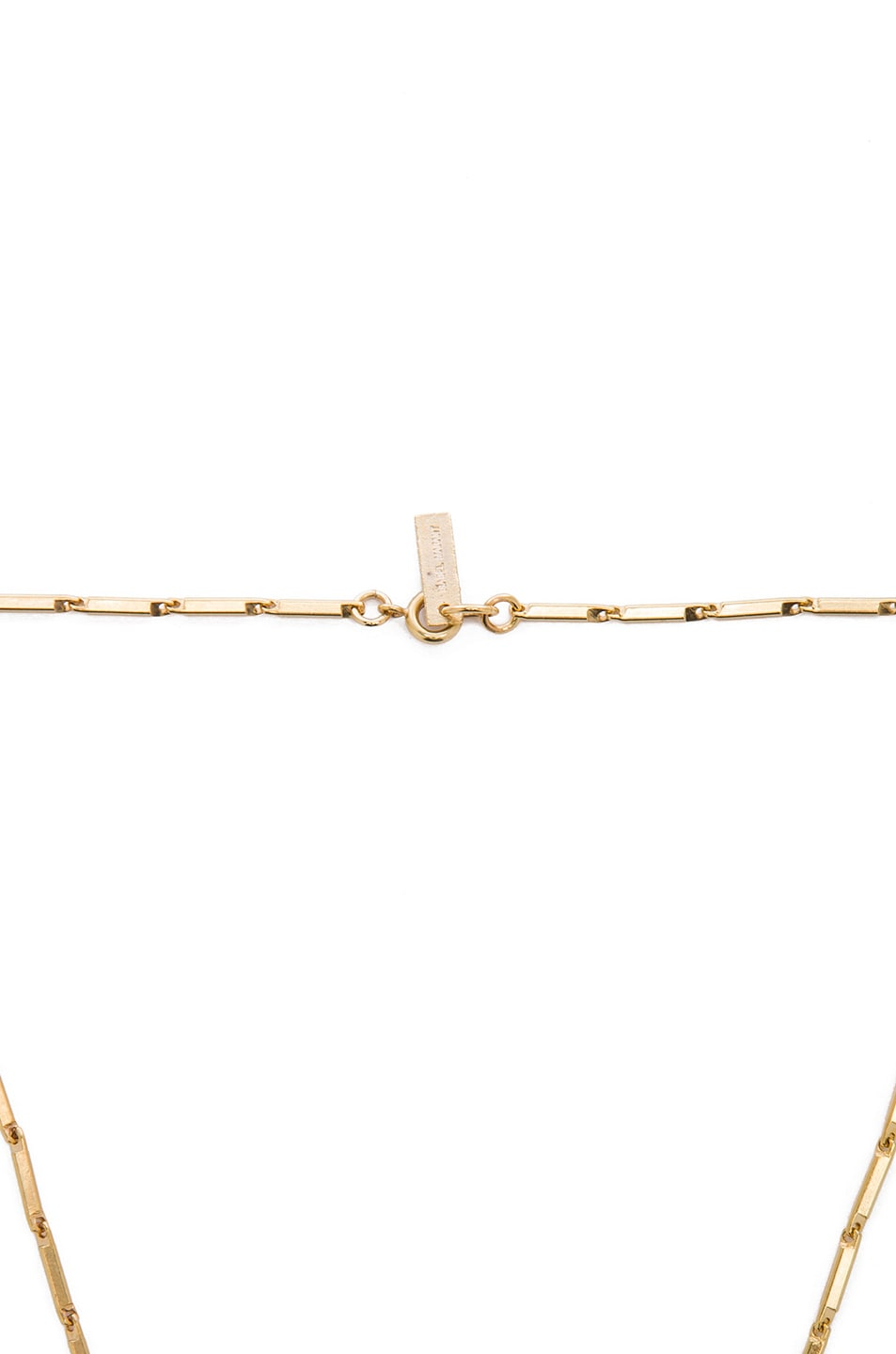 Image 2 of Isabel Marant New Day Brass Necklace in Gold & Transparent