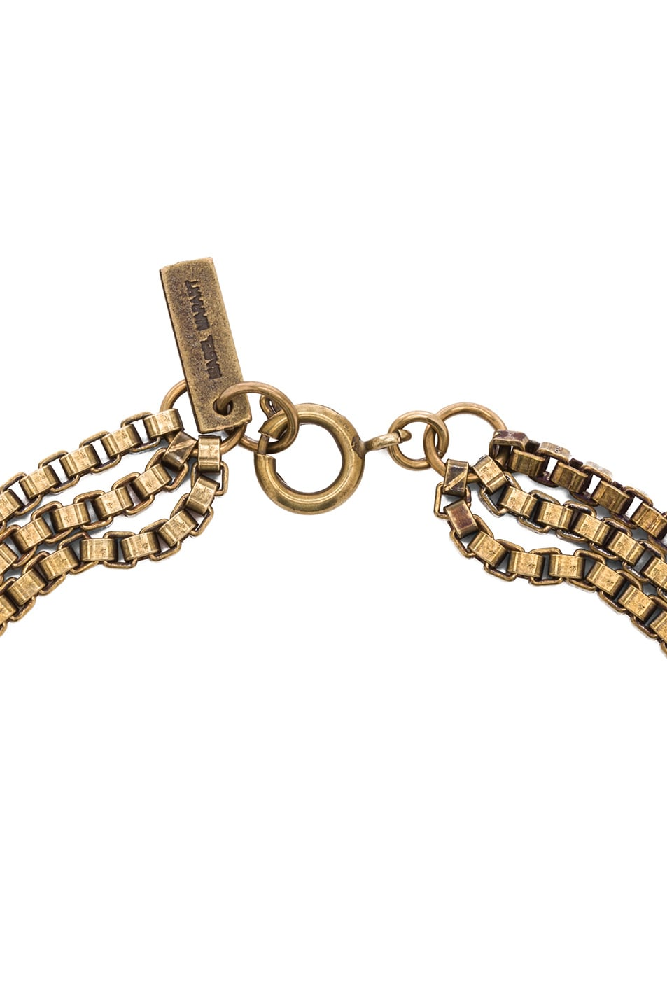 Image 2 of Isabel Marant Memphis Antique Brass Necklace in Gold & Blue