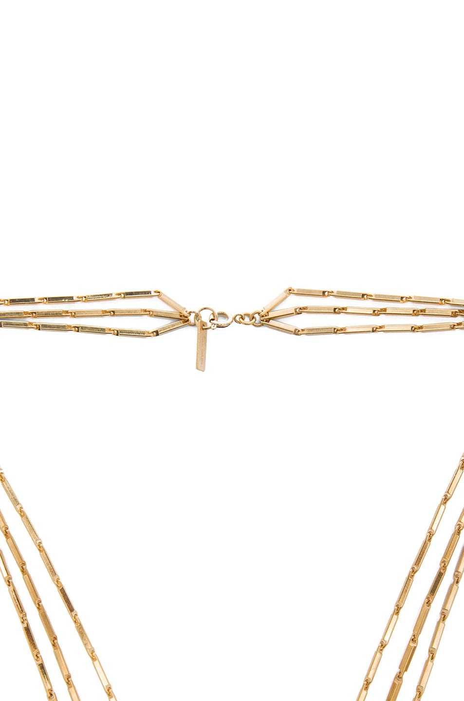 Image 2 of Isabel Marant New Day Layered Brass Necklace in Black & Gold