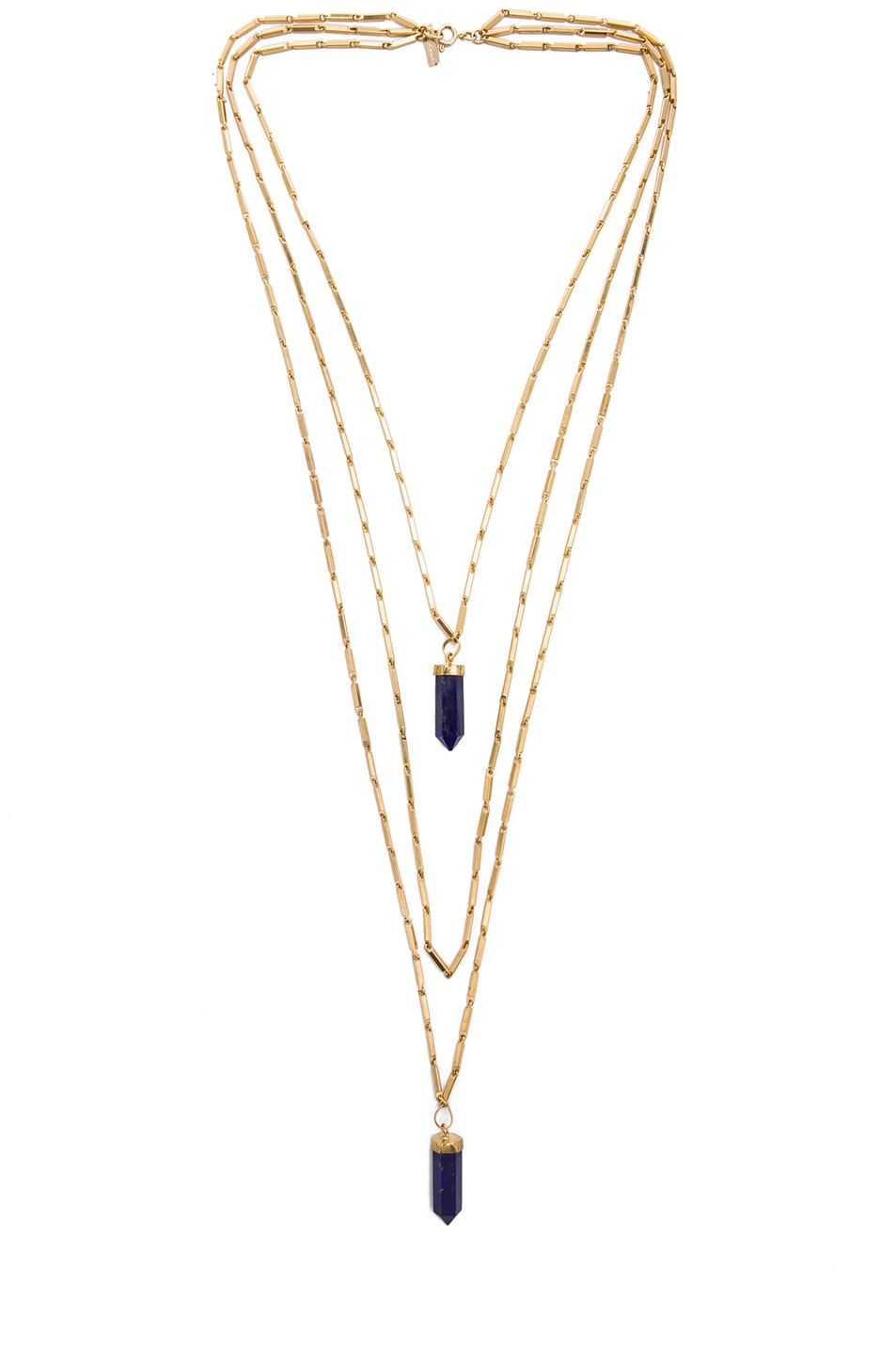 Image 1 of Isabel Marant New Day Layered Necklace in Blue & Gold