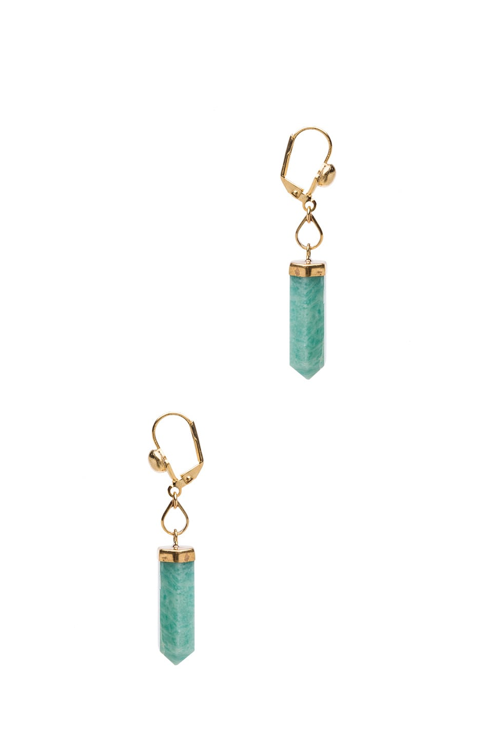 Image 2 of Isabel Marant New Day Brass Earrings in Gold & Green