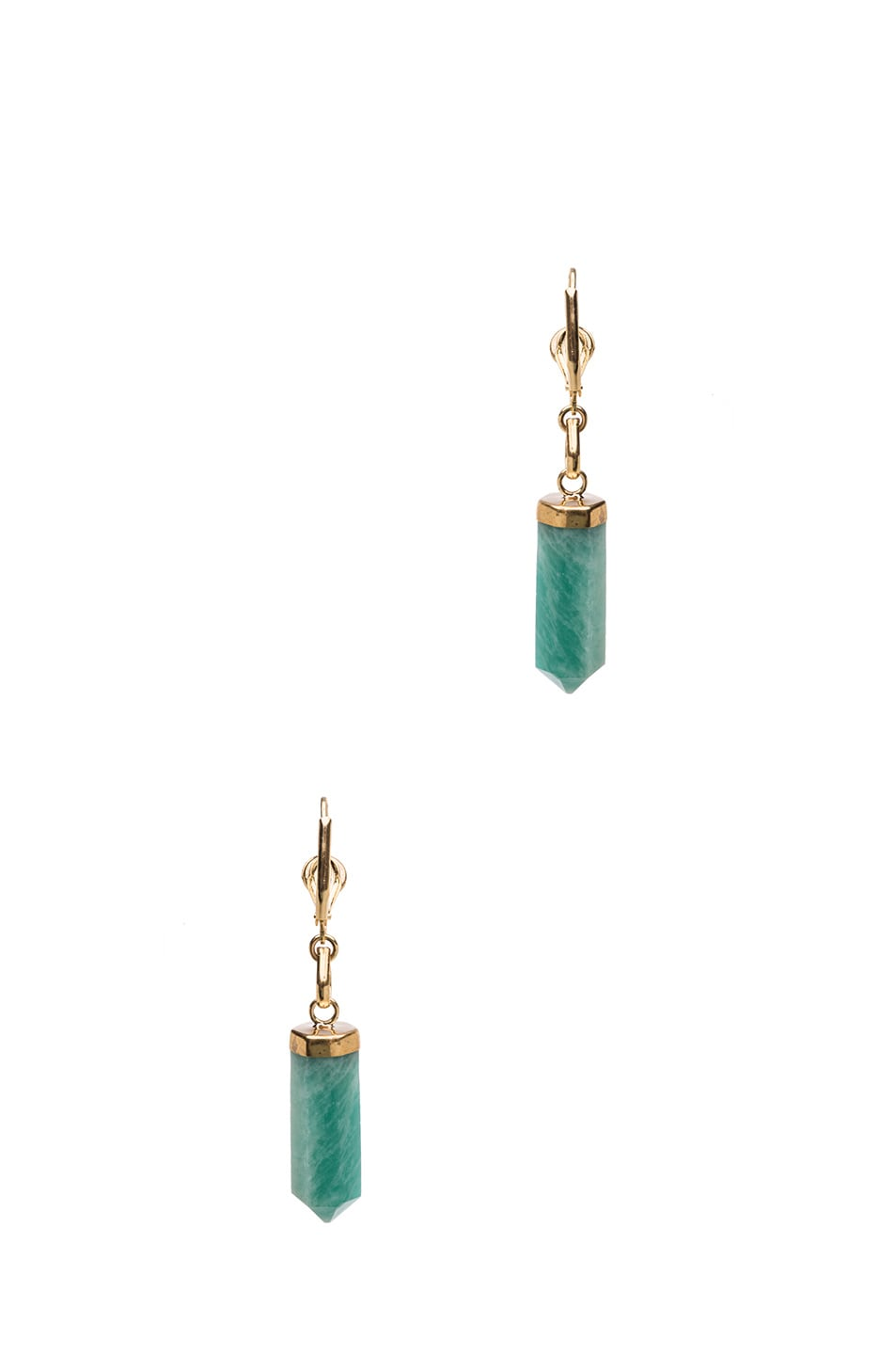 Image 3 of Isabel Marant New Day Brass Earrings in Gold & Green