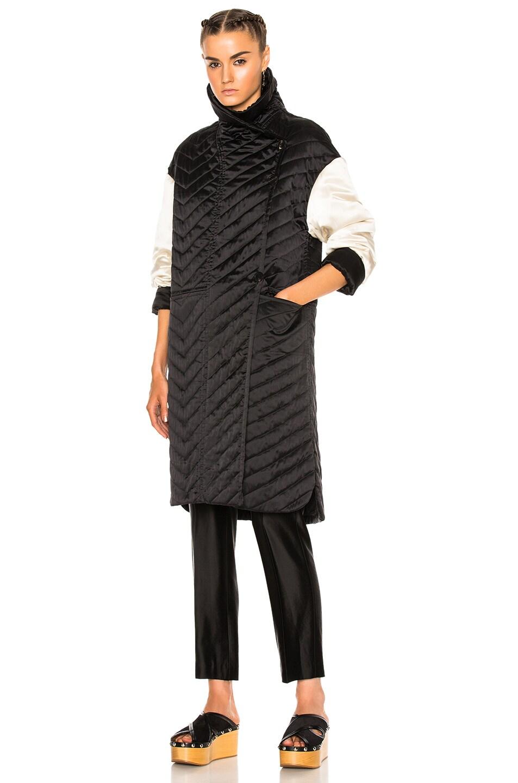 Image 2 of Isabel Marant Howell Silk Padded Jacket in Black