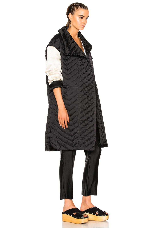 Image 4 of Isabel Marant Howell Silk Padded Jacket in Black