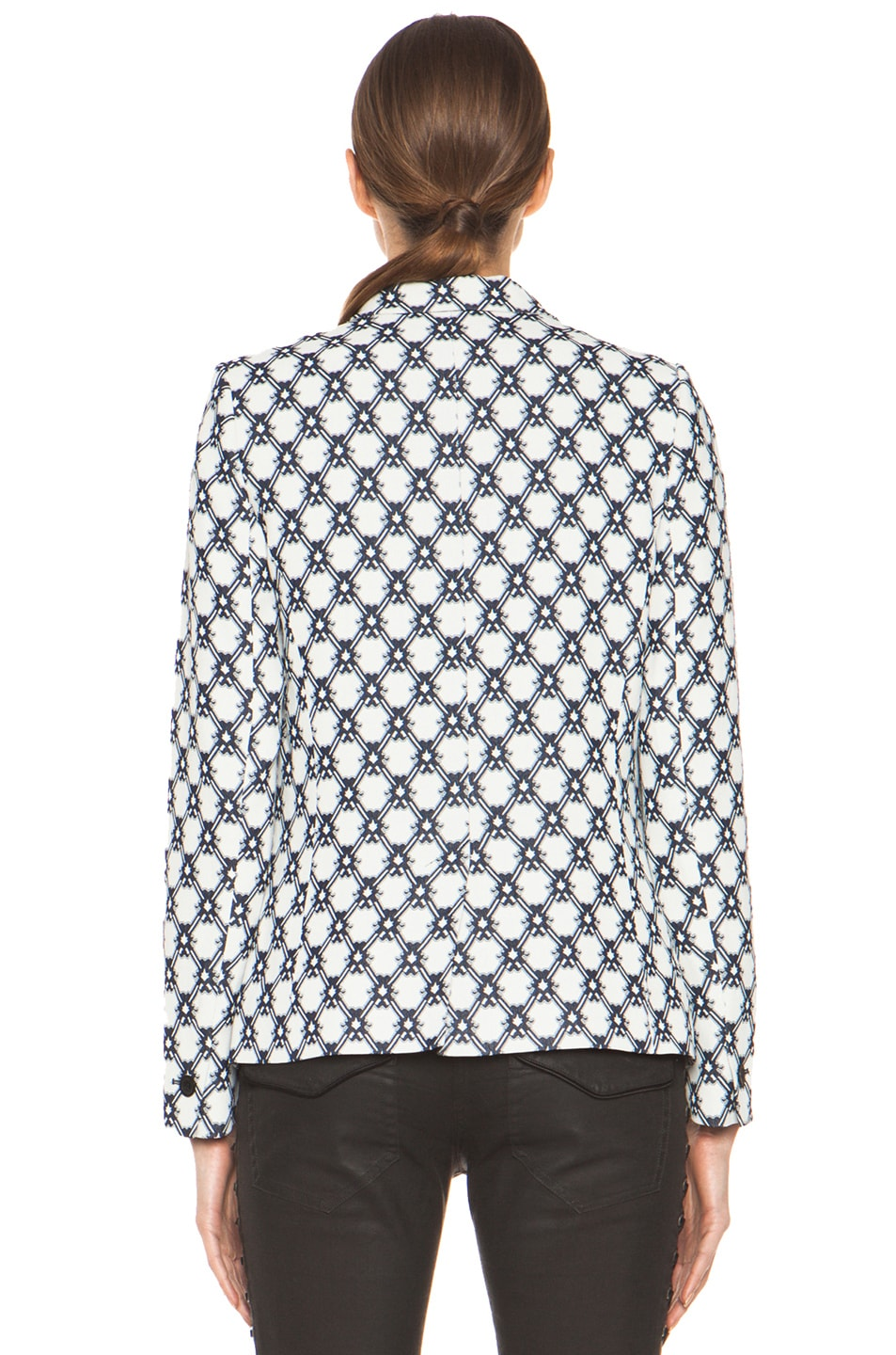 Image 5 of Isabel Marant Malone 70's Jacquard Jacket in Night Blue
